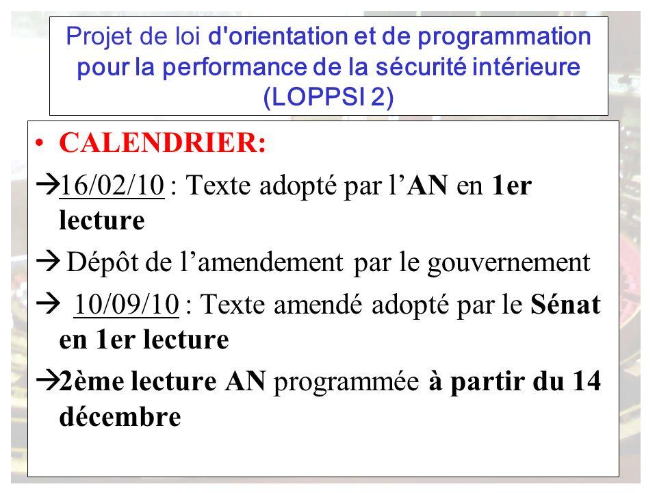 16/02/10 : Texte adopté par l'AN en 1er lecture