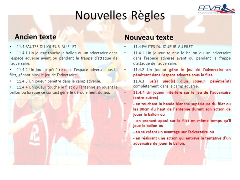 Nouvelles Règles Ancien texte Nouveau texte