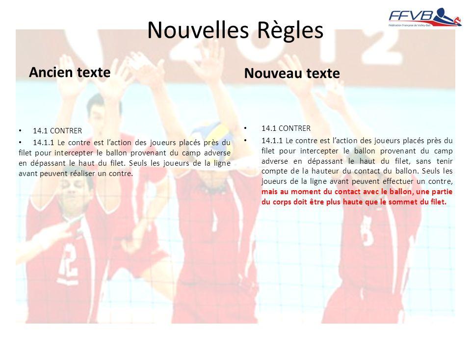 Nouvelles Règles Ancien texte Nouveau texte 14.1 CONTRER 14.1 CONTRER