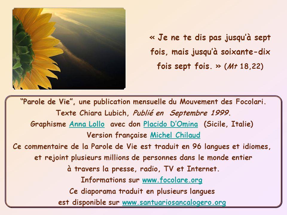 Parole de Vie , une publication mensuelle du Mouvement des Focolari.