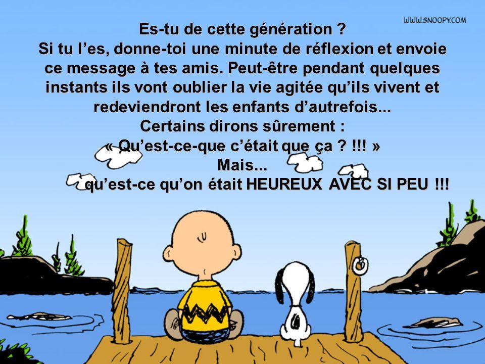 Es-tu de cette génération