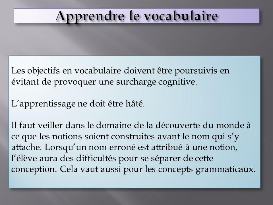 Apprendre le vocabulaire