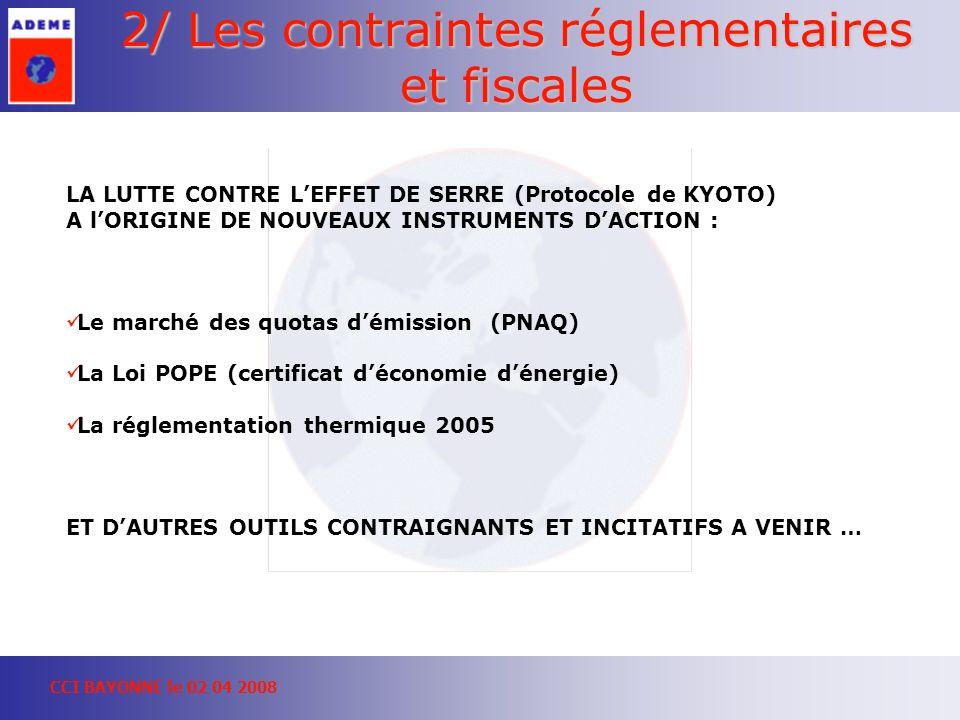 2/ Les contraintes réglementaires et fiscales