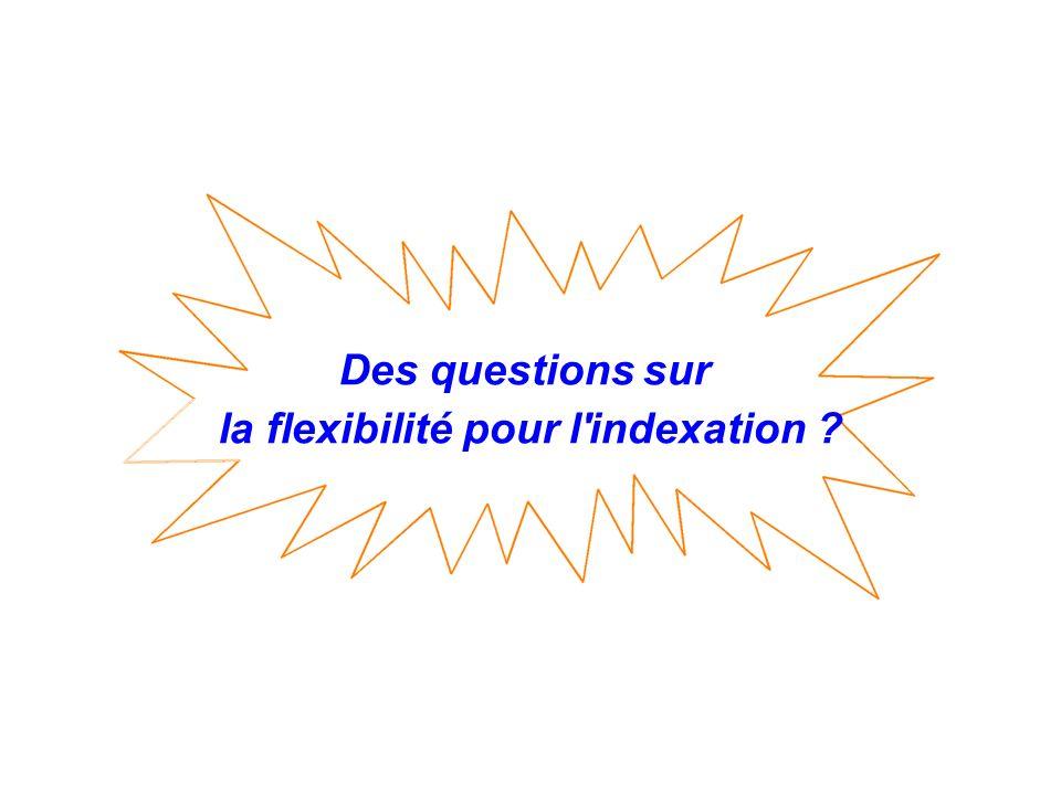 la flexibilité pour l indexation