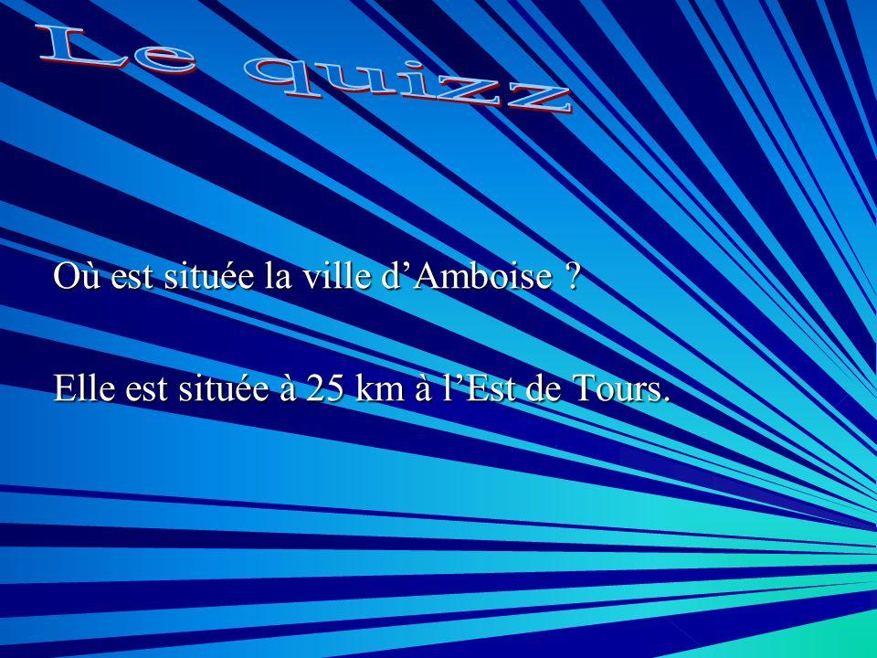 Le quizz Où est située la ville d'Amboise