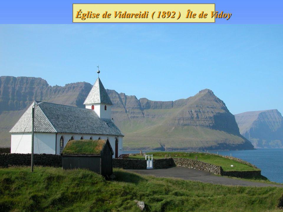 Église de Vidareidi ( 1892 ) Île de Vidoy