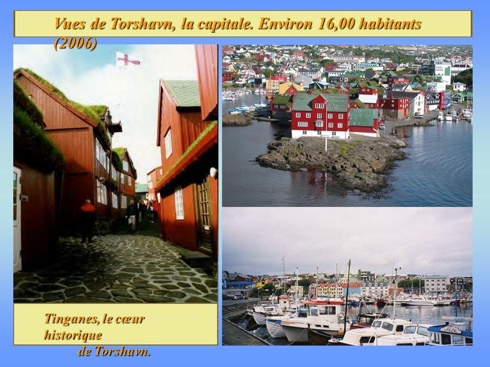 Vues de Torshavn, la capitale. Environ 16,00 habitants (2006)