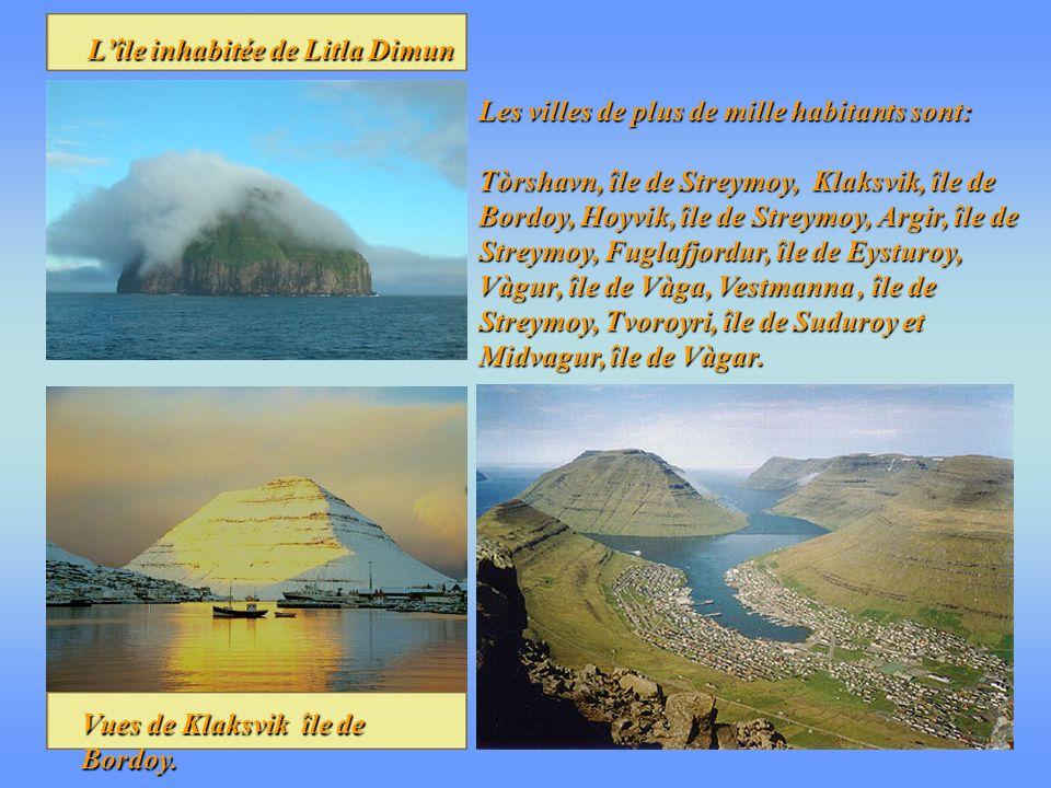 L'île inhabitée de Litla Dimun