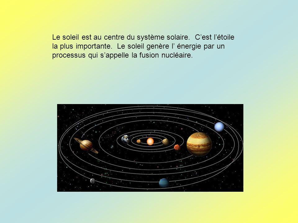 Le soleil est au centre du système solaire
