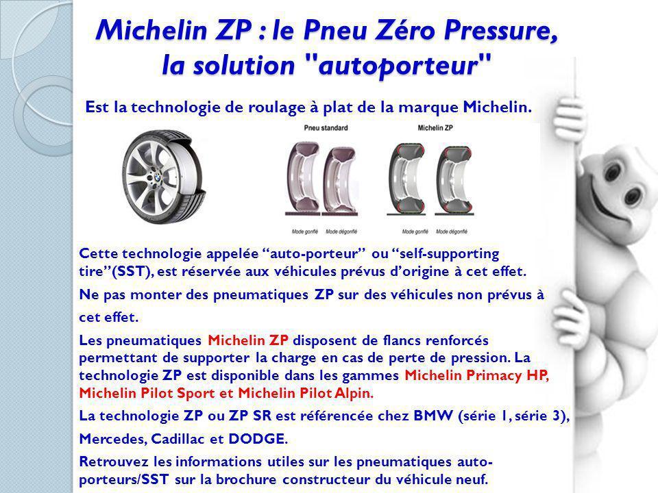 Michelin ZP : le Pneu Zéro Pressure, la solution autoporteur