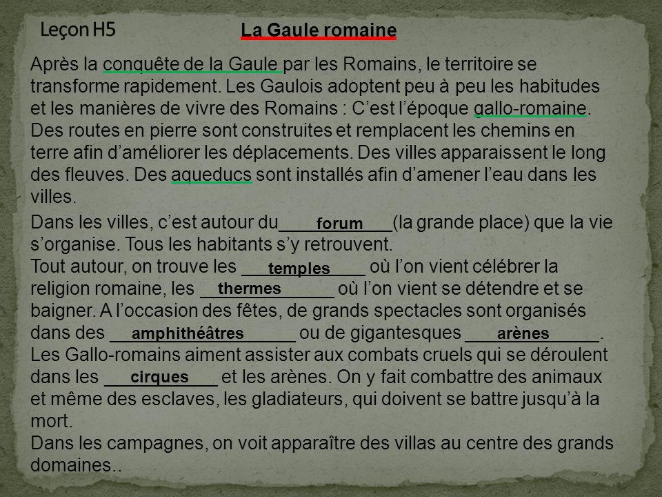 Leçon H5 La Gaule romaine