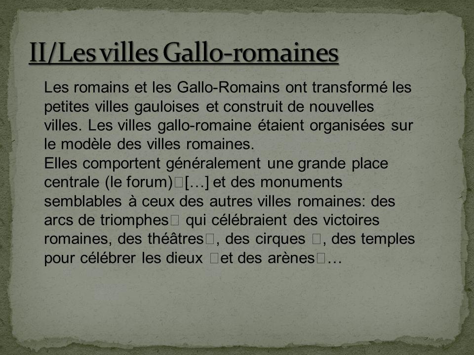 II/Les villes Gallo-romaines