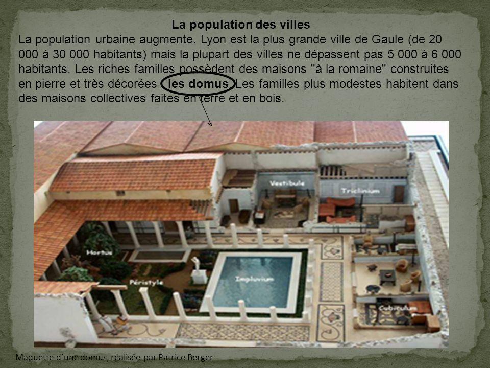 La population des villes