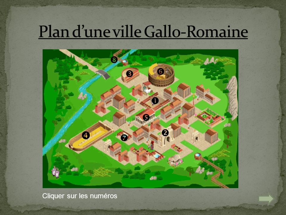 Plan d'une ville Gallo-Romaine