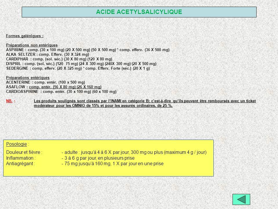 ACIDE ACETYLSALICYLIQUE