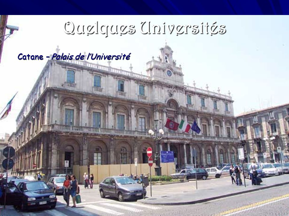 Quelques Universités Catane – Palais de l'Université