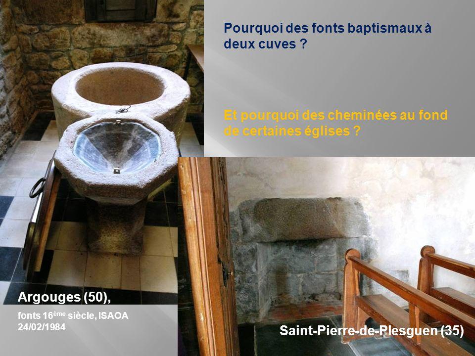 Pourquoi des fonts baptismaux à deux cuves