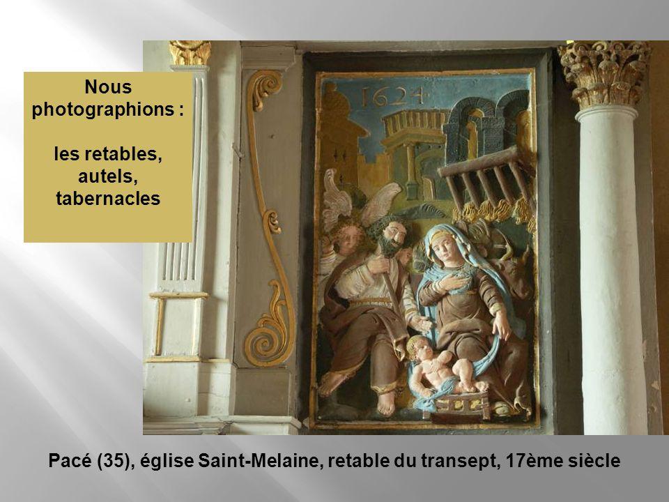 les retables, autels, tabernacles