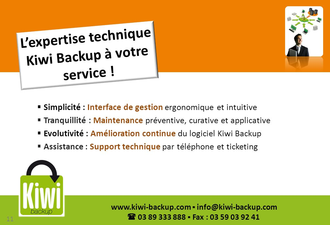 L'expertise technique Kiwi Backup à votre service !