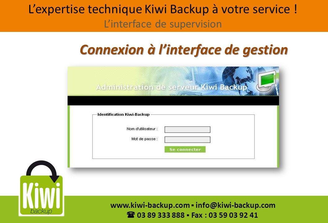 Connexion à l'interface de gestion
