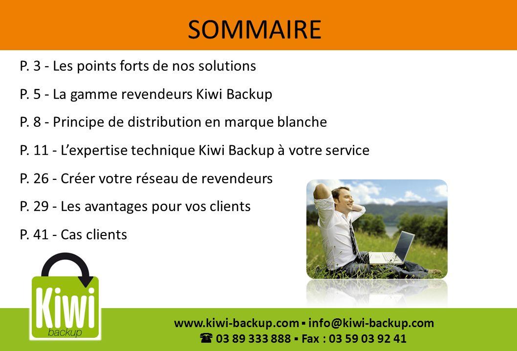 SOMMAIRE P. 3 - Les points forts de nos solutions