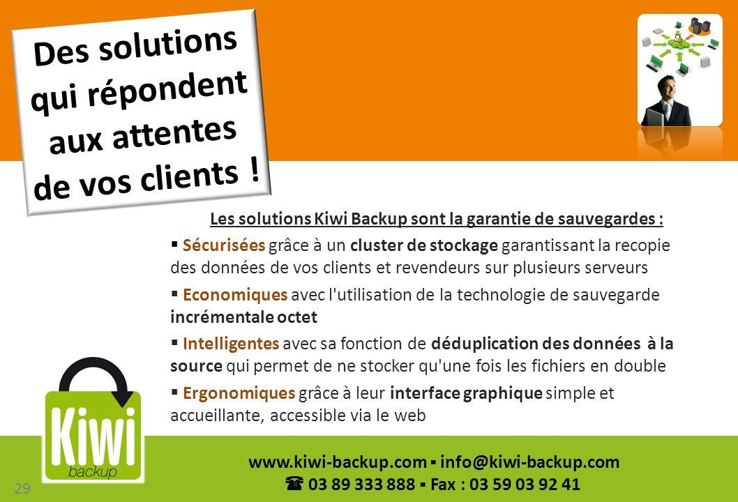 Des solutions qui répondent aux attentes de vos clients !