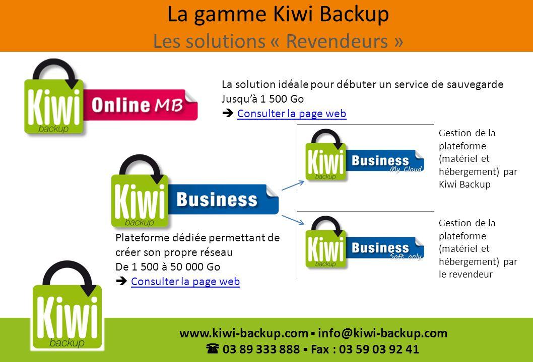La gamme Kiwi Backup Les solutions « Revendeurs »