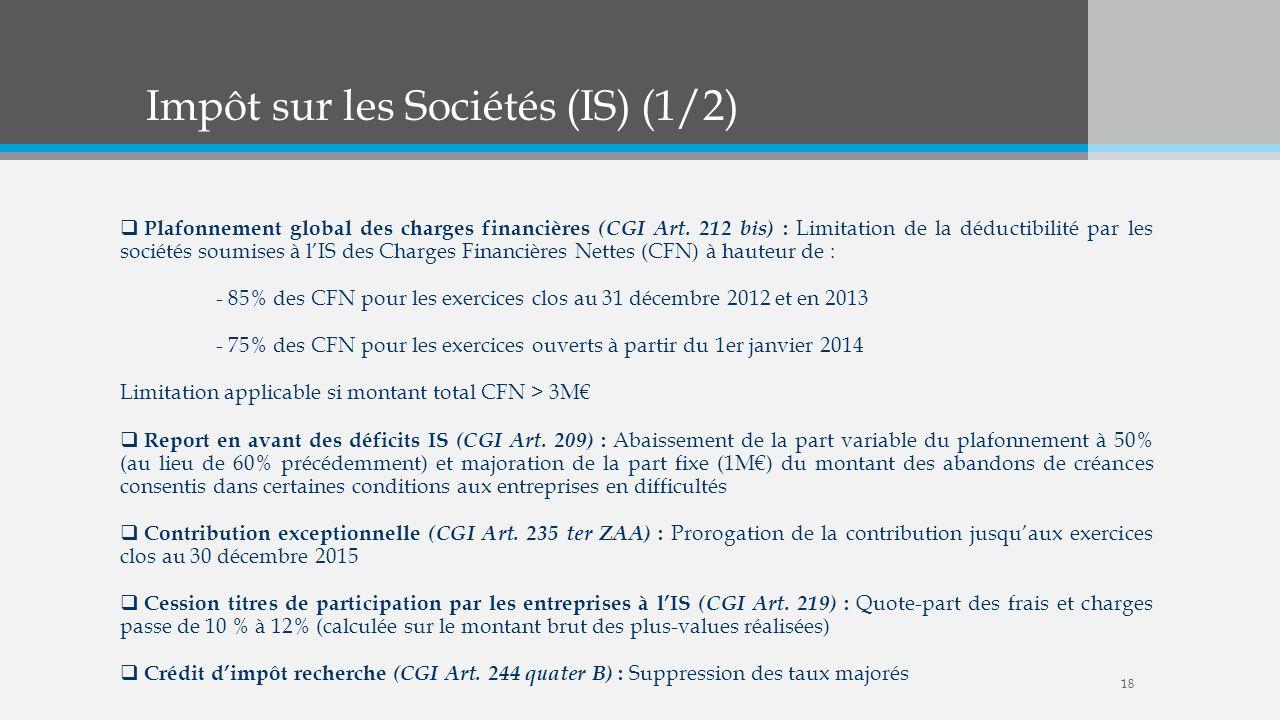 Impôt sur les Sociétés (IS) (1/2)