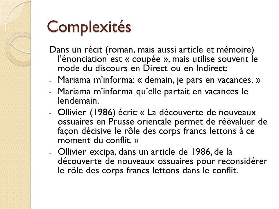 Complexités
