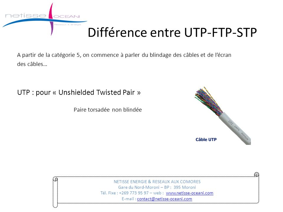 Difference entre cable ethernet categorie 5 et 6 for Difference entre pieux et micropieux