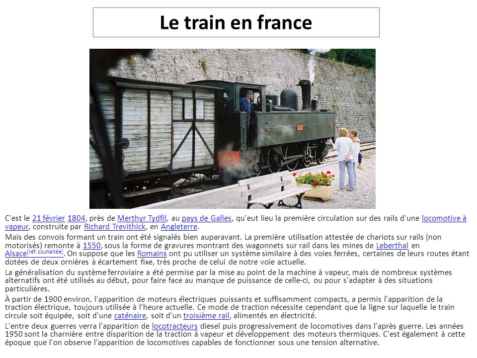 Le train en france