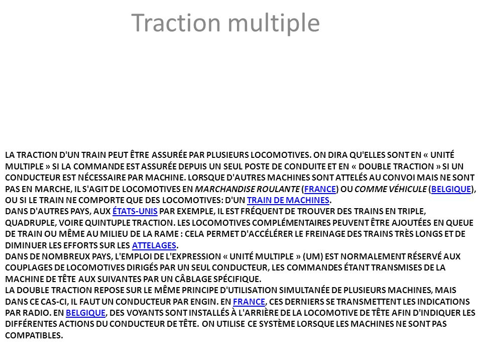 Traction multiple