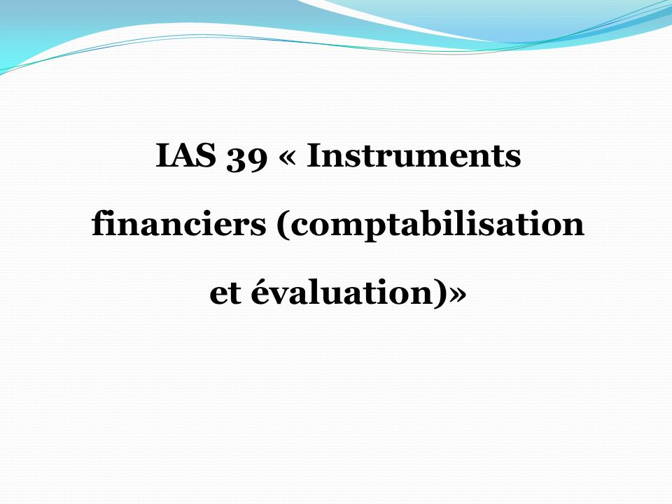 financiers (comptabilisation
