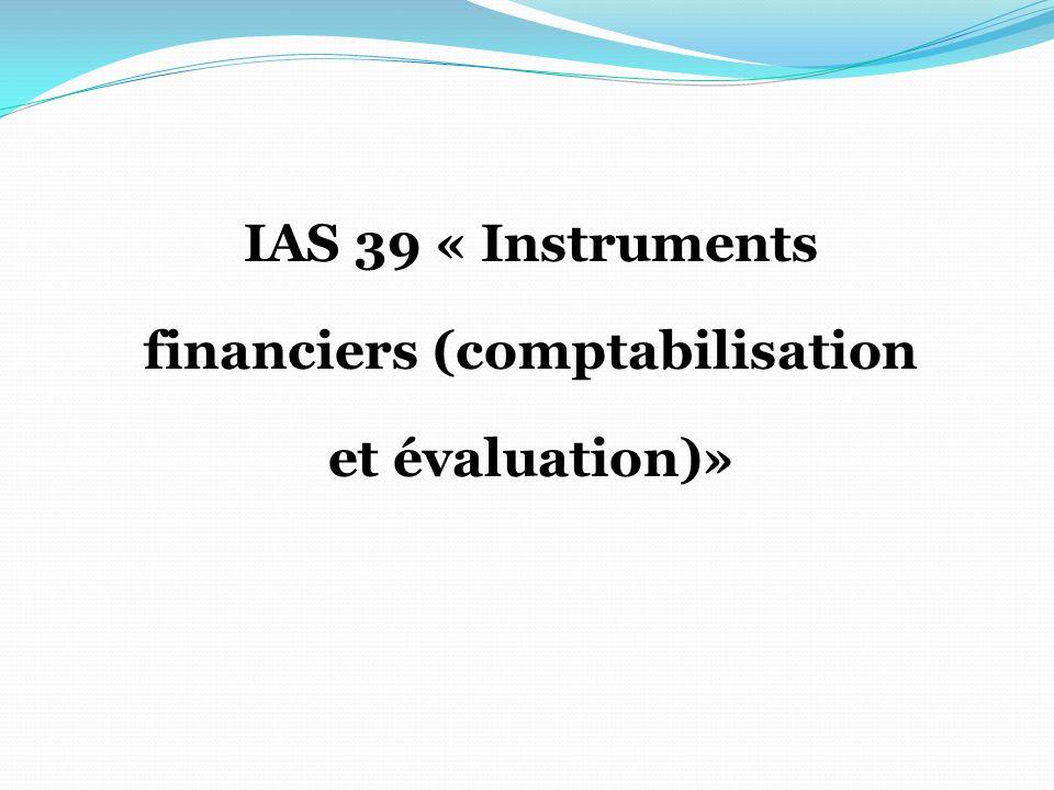 financiers (comptabilisation