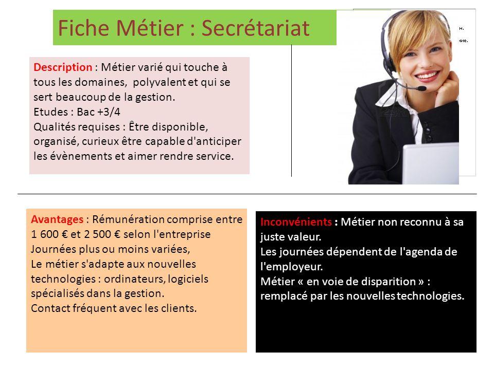 Fiche Métier : Secrétariat