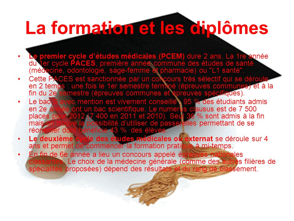 La formation et les diplômes