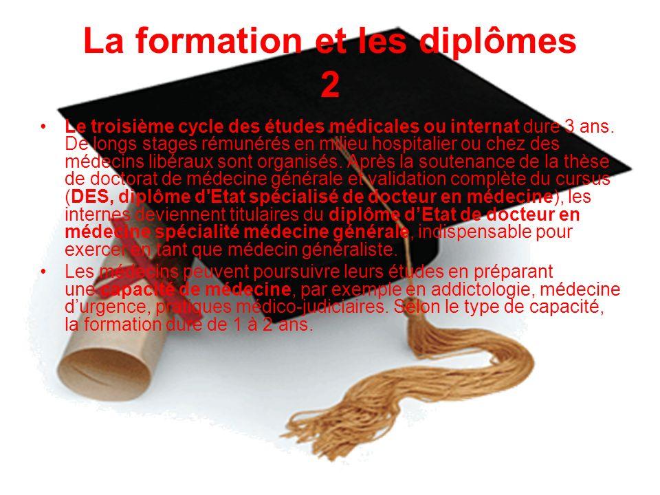 La formation et les diplômes 2