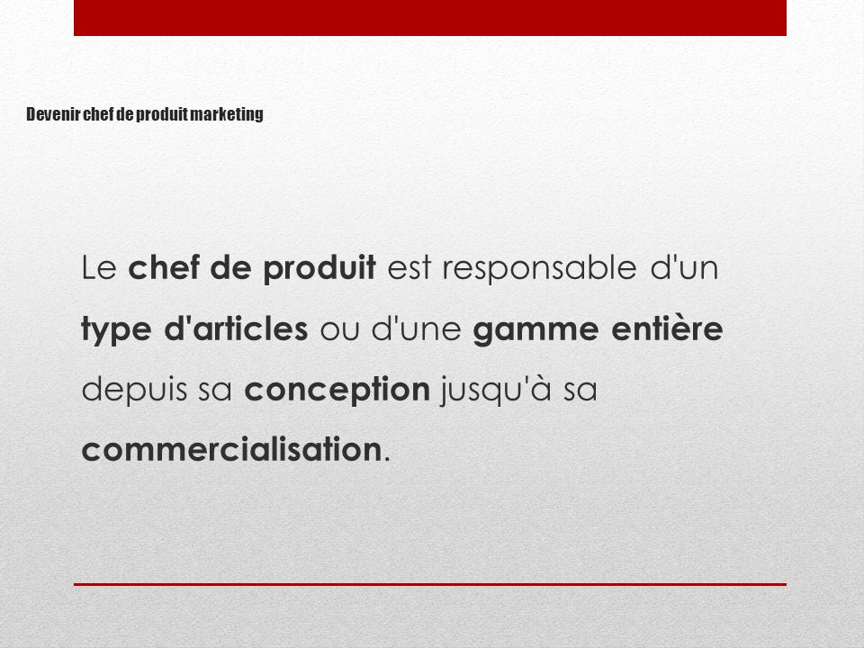 Devenir chef de produit marketing