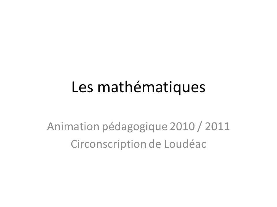 Animation pédagogique 2010 / 2011 Circonscription de Loudéac