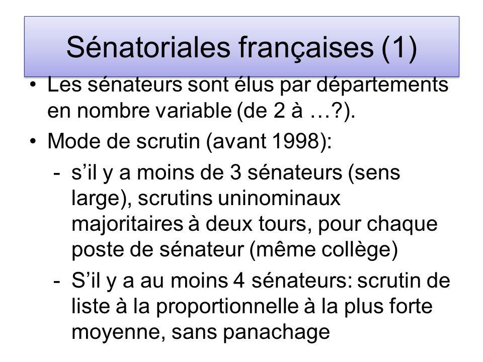 Sénatoriales françaises (1)