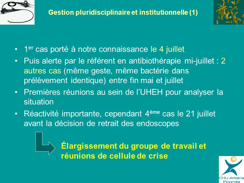 Gestion pluridisciplinaire et institutionnelle (1)