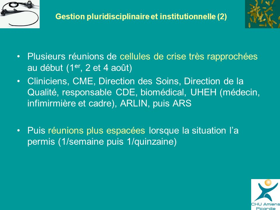 Gestion pluridisciplinaire et institutionnelle (2)