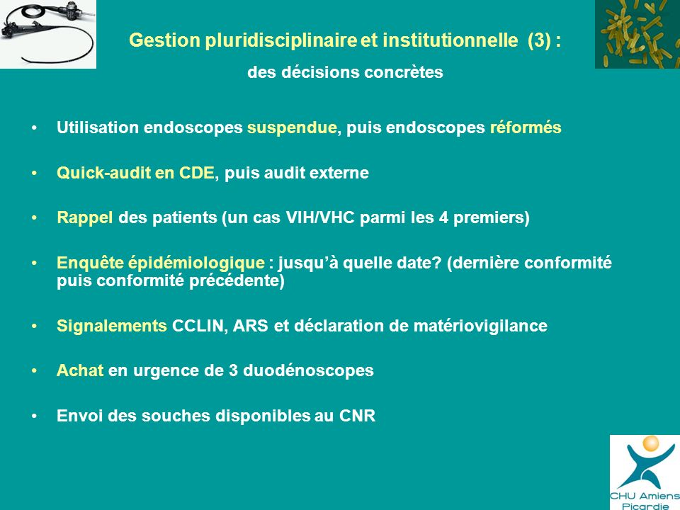 Gestion pluridisciplinaire et institutionnelle (3) :