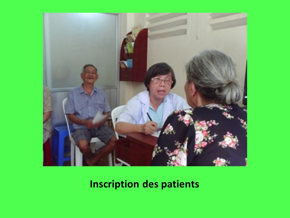 Inscription des patients