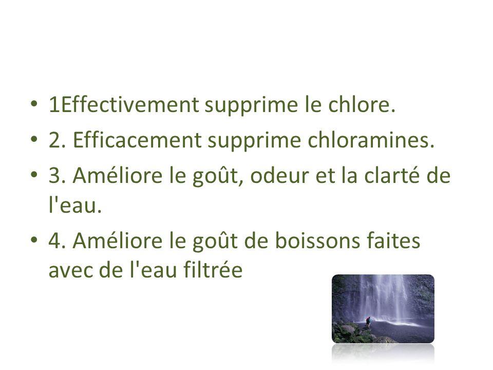 1Effectivement supprime le chlore.