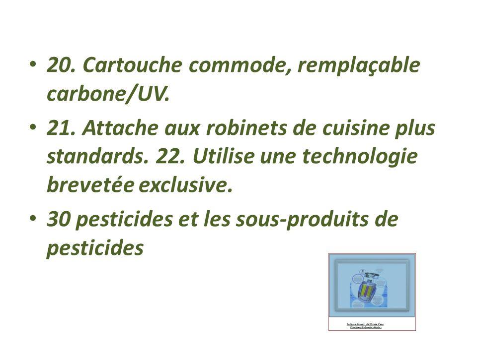 20. Cartouche commode, remplaçable carbone/UV.