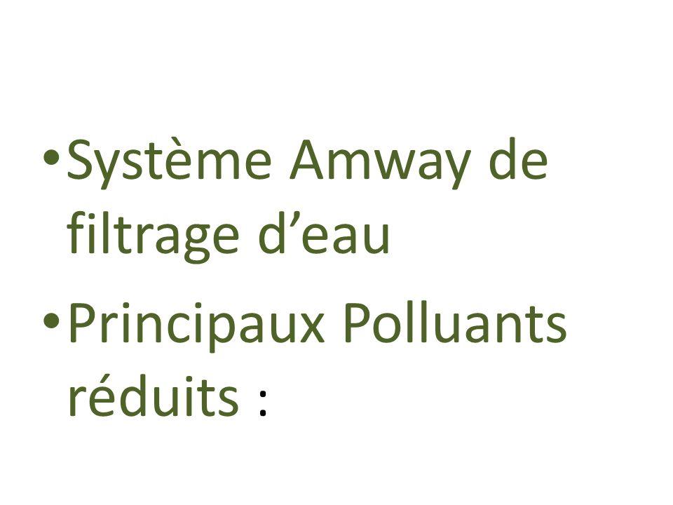 Système Amway de filtrage d'eau