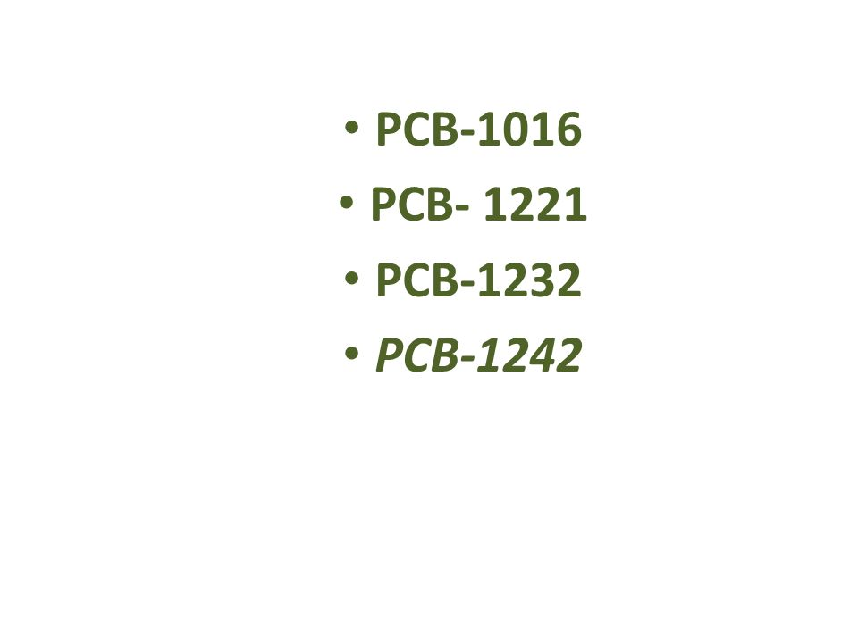 PCB-1016 PCB- 1221 PCB-1232 PCB-1242