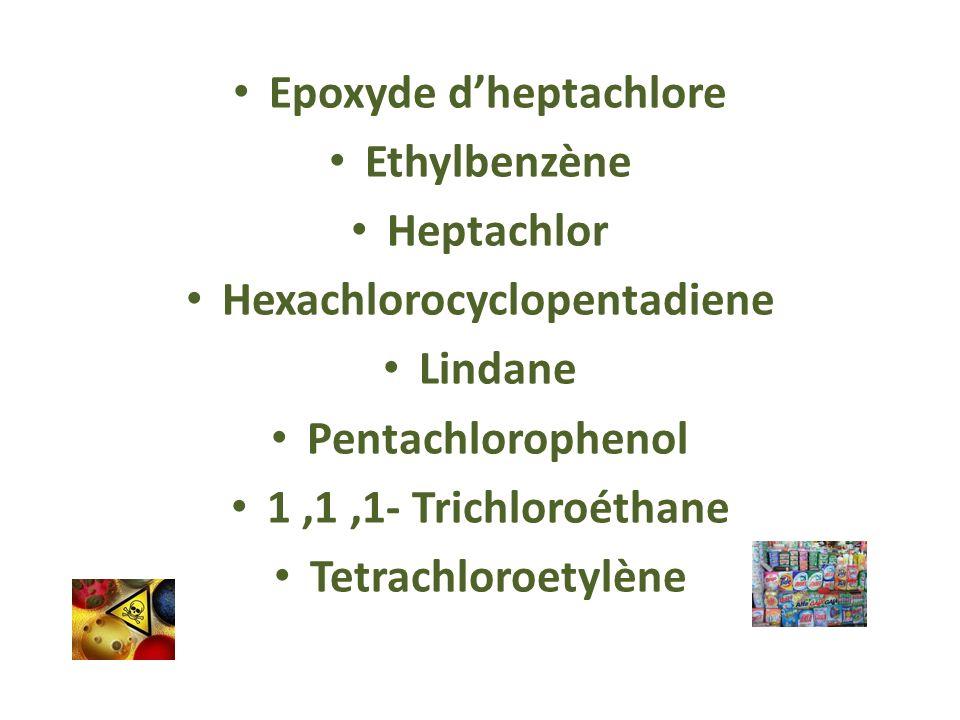 Epoxyde d'heptachlore Hexachlorocyclopentadiene