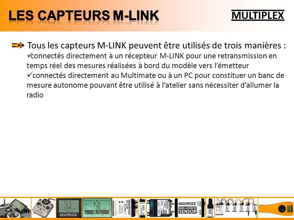 LES CAPTEURS m-link MULTIPLEX